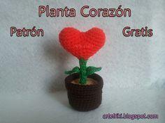 Planta Corazon Patron Gratis
