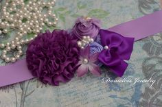 Maternity sash/Belly Bouquet /it's a by Daniellasjewels on Etsy, $38.00