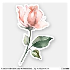 Figuren Pink Rose Bud Sunny Aquarell Blumenaufkleber Consider Sunroom Plans For A Luxury Addition Ar Cute Laptop Stickers, Cool Stickers, Printable Stickers, Funny Stickers, Journal Stickers, Scrapbook Stickers, Planner Stickers, Aesthetic Roses, Kpop Aesthetic