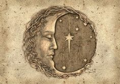 Sun Moon Stars, Sun And Stars, Constellations, Moon Drawing, Moon Painting, Paper Moon, Moon Magic, Paperclay, Beautiful Moon