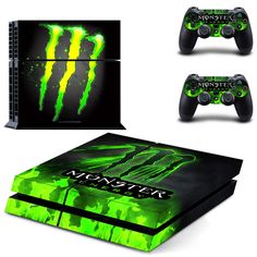 Monster Energy Skin Sticker Decals Console And Controllers Protect Your Monster Energy Gear, Monster Energy Supercross, Monster Energy Girls, Art Drawings For Kids, Disney Drawings, Monster Crafts, Best Gaming Wallpapers, Pokemon Eeveelutions, Colors