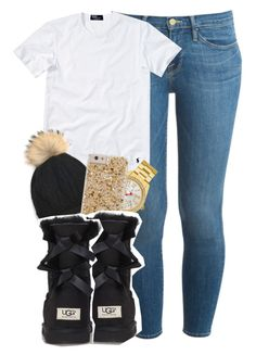 """""""1/30/16"""" by bipolvr ❤ liked on Polyvore featuring Frame Denim, Polo Ralph Lauren, Betsey Johnson and UGG Australia"""