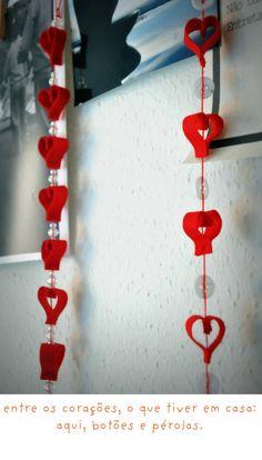 Móbile de corações