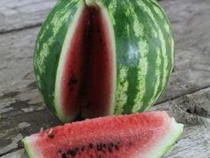 Sweet Dakota Rose open-pollinated watermelon Striped fruits are nearly round and weigh in at 8-15 lbs. Superior flavor, sunburn resistant, and has very few seeds.