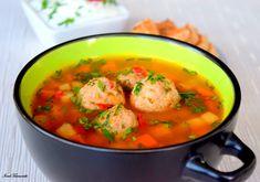 Imagini pentru ciorba de perisoare Thai Red Curry, Asparagus, Ethnic Recipes, Food, Meal, Eten, Meals, Asparagus Bacon