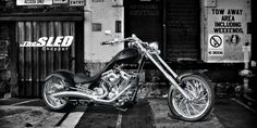 WildCard Customs - Australian Manufacturer of Stunning Custom/Production Chopper and ProStreet American V-Twin Motorcycles at affordable prices! - The SLED Chopper Front Brakes, Rear Brakes, Big Bear Choppers, American Chopper, American Motorcycles, Final Drive, Sled, Touring, Twins
