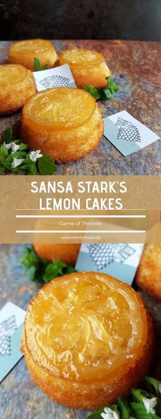 Dainty, moist, and perfect for a tea party - these easy lemon cakes are a delightful treat that are perfect for your Game of Thrones party or while watching the show.