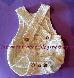 TUTORIAL con paso a paso de como hacerle a tu bebé una preciosa ranita-cubrepañal con PETO Y TIRANTES INCORPORADOS, con un SOLO ovillo de...