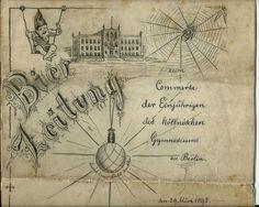 Bierzeitung 1893 Berlin ZUM Commerse DER Einjährigen DES Köllnischen Gymnasiums | eBay