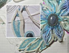 Нежное украшение из ленты «шибори» — Рукоделие
