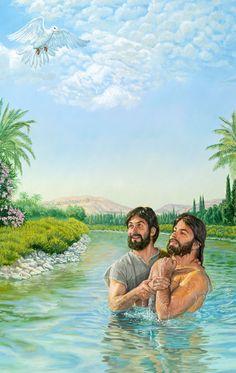 Cuando Jesús se bautizó, el espíritu de Dios descendió sobre él como paloma para probar que era el Mesías