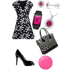 A fashion look from November 2014 featuring Giambattista Valli dresses, MICHAEL Michael Kors pumps and Miadora necklaces. Browse and shop related looks.