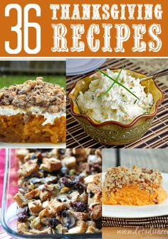 Re-released with Brand New Recipes: 36 Thanksgiving Recipes Free eCookbook