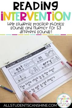 Reading Intervention - Phonics Sounds