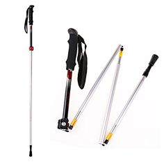 Collapsible Trekking Poles, Walking Sticks Fold Lightweight Adjustable Shock-Absorbent Carbon Fiber Hiking,Quick Locks All Terrain Accessories and Carry Bag Ultralight - Perfect for Snowshoeing ** Continue to the product at the image link.