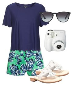"""Coastal Watch"" by corinnejacobs ❤ liked on Polyvore featuring J.Crew, Topshop, Jack Rogers, Polaroid and Ray-Ban"