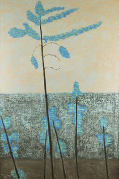 Milton Avery, Pines, oil on canvas, 1953