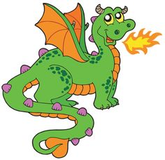 dragons with flames dragon cartoon images rh pinterest com dragon clipart images dragon clip art borders