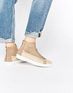 Hudson London Bergot Lace Up High Top Sneakers Hudson London 7f47eddf1a0