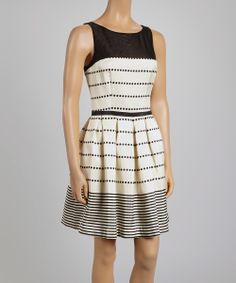Black Stripe A-Line Dress | Daily deals for moms, babies and kids
