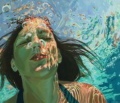 """Awaken, 44x52"""", Oil on canvas, 2014 -  Sold"""