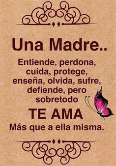 Spanish Mothers Day, Mothers Love, Happy Mothers, Mother Daughter Quotes, Mothers Day Quotes, Spanish Inspirational Quotes, Spanish Quotes, Mom Poems, Quotes En Espanol