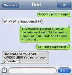 Funny text I got suspended from school Funny text I got suspended from school