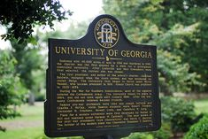 A sign on North Campus commemorating the University of Georgia in Athens, Georgia