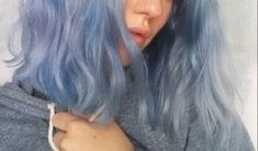 Shared by Beqa Giorgadze. Find images and videos about girl, love and fashion on We Heart It - the app to get lost in what you love. Hair Inspo, Hair Inspiration, Blue Hair Aesthetic, Curly Hair Styles, Natural Hair Styles, Hair Color Blue, Dye My Hair, Grunge Hair, Pretty Hairstyles