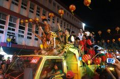 The night parade took place at the city center, passed through the main roads and main temples at Singkawang. Photo by T...