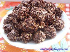 Smakowy Raj - blog kulinarny: Kakaowe ciasteczka owsiane bez pieczenia