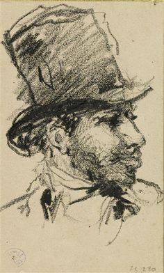 Portrait of a man profile, Jean-Baptiste Carpeaux (1827-1875) / Valenciennes, musée des Beaux-Arts