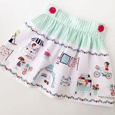 Darling little Vintage Market skirt made by @penelopeseclecticcloset  love it!  #vintagemarketfabric #tashanoel #iloverileyblake