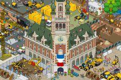 Lille by eBoy     Amazing Pixel Art