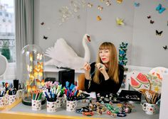 Victoire de Castellane, Creative Director of Dior Joaillerie, at her Paris studio. Victoire de Castellane has been the Creative Director of Dior Joaillerie, Dior's jewellery division, since its inception in 1998. The jewellery world, especially the kind that Dior makes is a cut throat, com