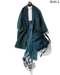 おしゃれプロの今年のコートスタイルを私服で拝見【佐藤佳菜子さん】 | @BAILA Winter Fashion Outfits, Fall Winter Outfits, Autumn Winter Fashion, Retro Outfits, Simple Outfits, Cute Outfits, Tomboy Fashion, Denim Fashion, Womens Fashion
