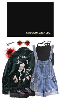 """""""okay"""" by paper-freckles ❤ liked on Polyvore featuring FUCT, Retrò and Mancienne"""