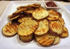 Baked Potato Chips   Make your own potato chips with these 6 simple ingredients. You'll never grab for those processed chips in the store again. Mix up the seasonings to fit your tastes and preferences.