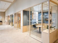 Wooden office partition - partition by design nicholas bewick Corporate Office Design, Open Office Design, Industrial Office Design, Corporate Interiors, Office Interior Design, Office Interiors, Office Designs, Office Partition Panels, Glass Office Partitions