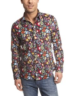 Desigual Men's Largas Madras Cotton