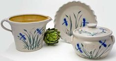 Salmon Falls pottery is fabulous.  My fav pattern is the dragonfly.