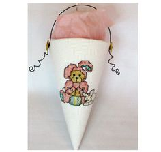 Easter Bear Bunny Cone by HandDid on Etsy, $12.00