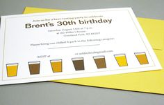 fun beer tasting birthday party