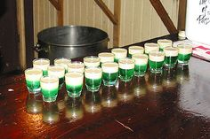 Springbokkie shooters, The Green and Gold. Made of mint liqueur and amarula. African Drum, Cape Town South Africa, South African Recipes, Out Of Africa, Green And Gold, Holiday Parties, Mint, Seasons, Drinks