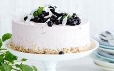 No bake -kakku Panna Cotta, Cheesecake, Goodies, Gluten Free, Pudding, Baking, Sweet, Ethnic Recipes, Desserts