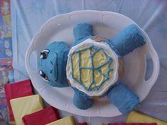 Squirtle birthday cake (pokemon)