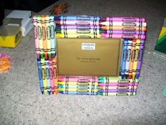 Teacher Gift Idea - crayon frame - cheap, quick, and easy!!