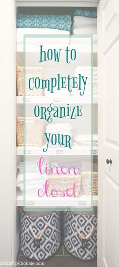 A step by step tutorial for how to completely organize your linen closet, purging and assessing what you need and then corralling items together. Linen Closet Organization, Organization Hacks, Bathroom Organization, Organizing Ideas, Bathroom Ideas, Bathroom Plants, Closet Storage, Bathroom Inspiration, Declutter Your Home