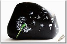 Gabis Welt :)'s Kreativ - Rock / Stone / Pebble Art images from the web - Sevko Sa Dandelion Painting, Pebble Painting, Pebble Art, Stone Painting, Rock Painting Patterns, Rock Painting Ideas Easy, Rock Painting Designs, Painted Rocks Craft, Hand Painted Rocks