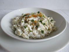 Juhtúrós krumplis galuska, tipikus szlovák étel Risotto, Ethnic Recipes, Food, Essen, Meals, Yemek, Eten